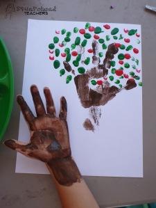 handprint apple tree 4