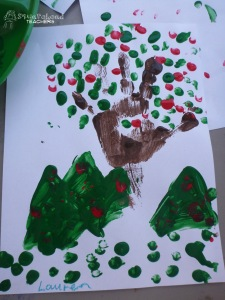 handprint apple tree 6
