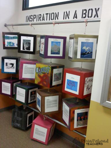 Inspiration in A Box (Creative Project Display)