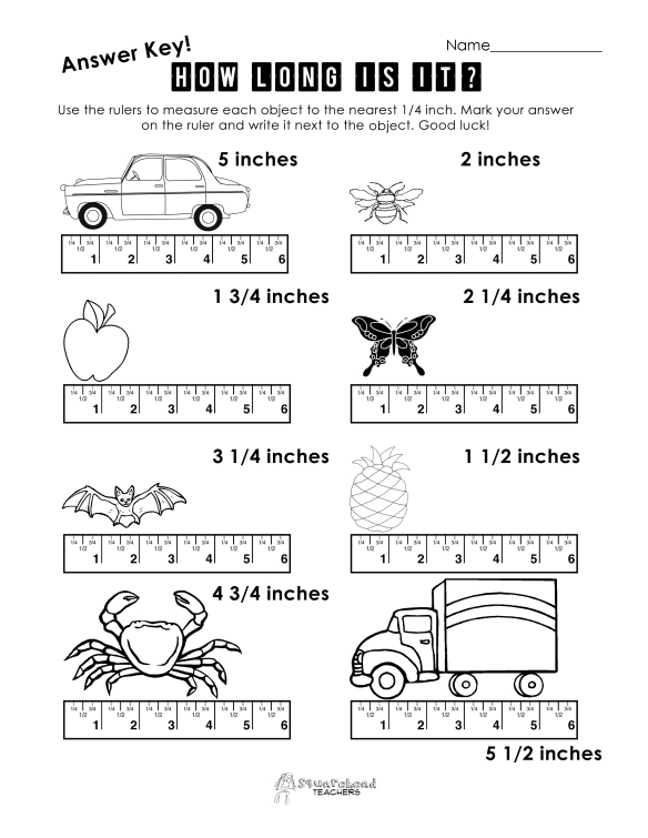 Ruler worksheet 1 answer key copy