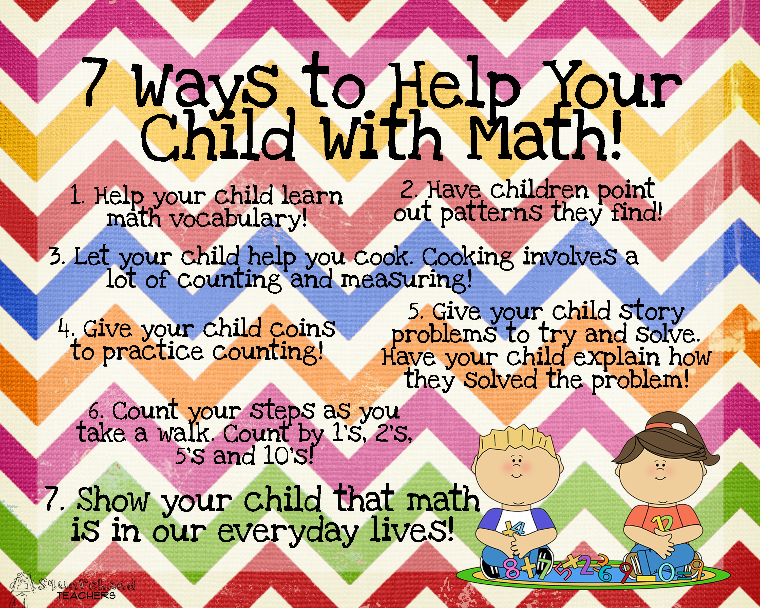 7 Ways You Can Help Your Child With Math Squarehead Teachers