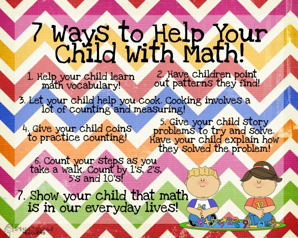 7 ways to help your child with math COLOR