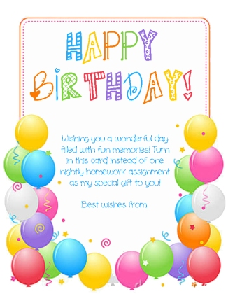 Birthday Card -2 coupon