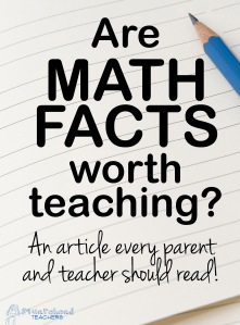 Math facts article sticker