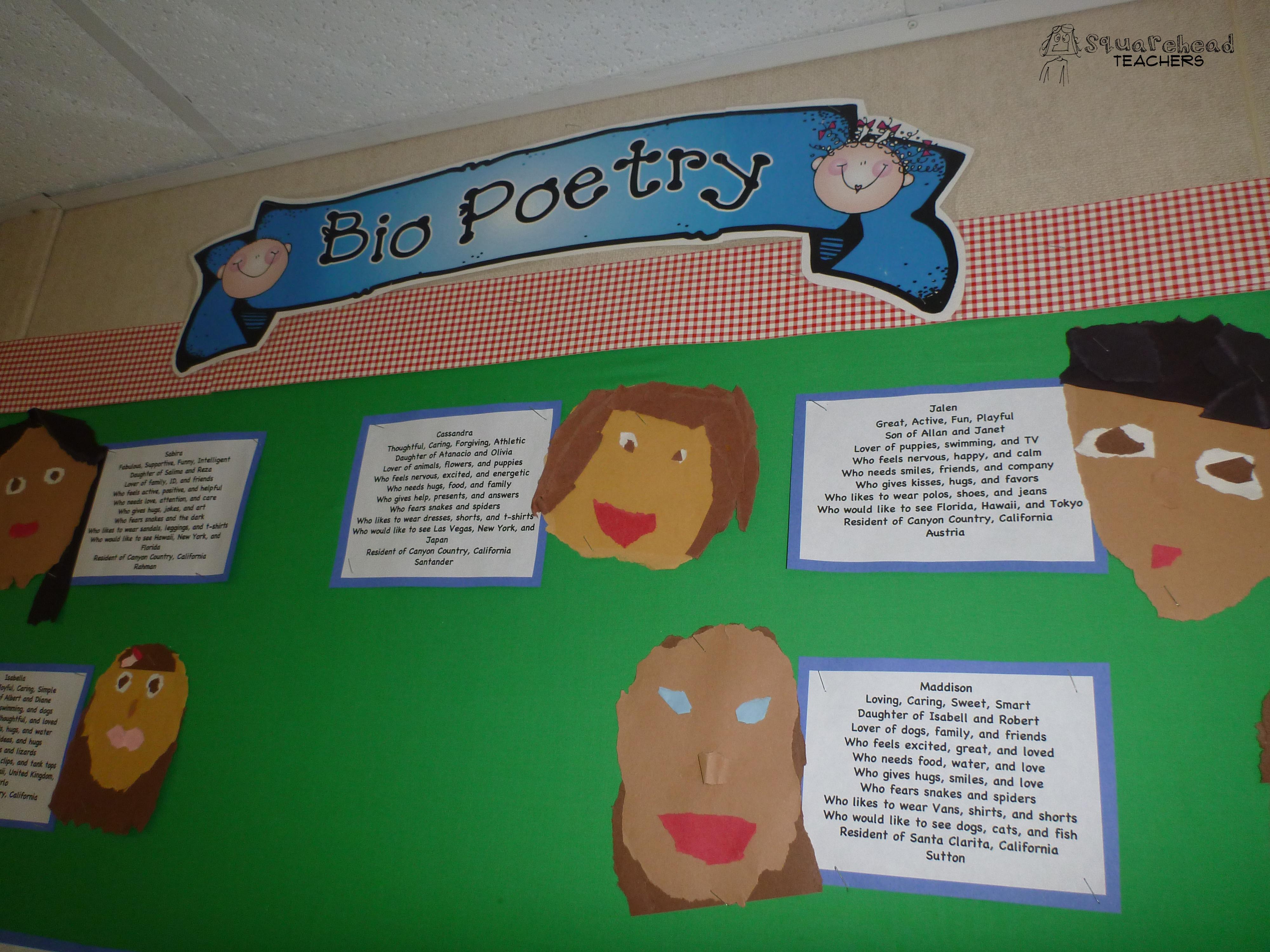Bio Poetry For Kids – Bio Poem Worksheet