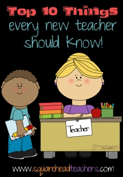 top 10 things every new teacher should know sticker