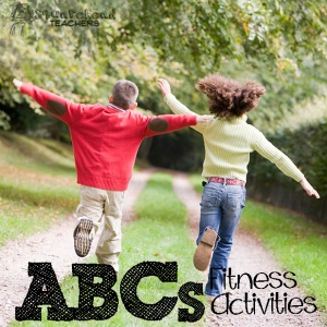 ABCs fitness activities sticker