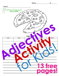 adjectives activity