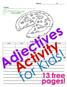 adjectives activity