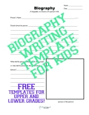 Biography template sticker