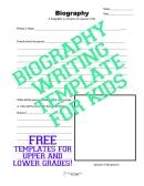 Biography template sticker