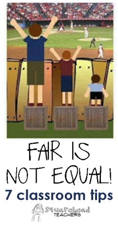 Fair is not equal
