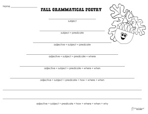 Grammatical Poetry- fall