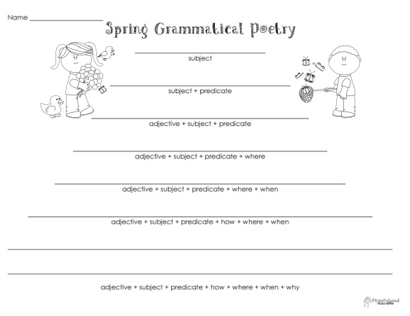 Grammatical Poetry- Spring