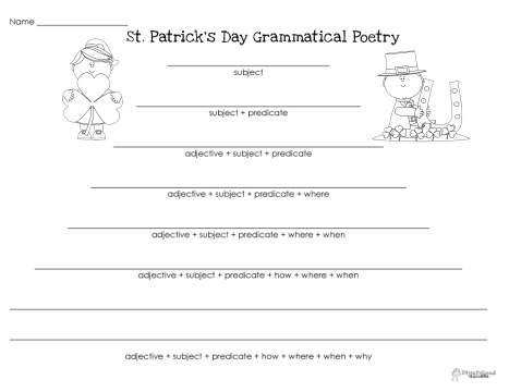 Grammatical Poetry- St Patricks