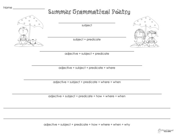 Grammatical Poetry- Summer
