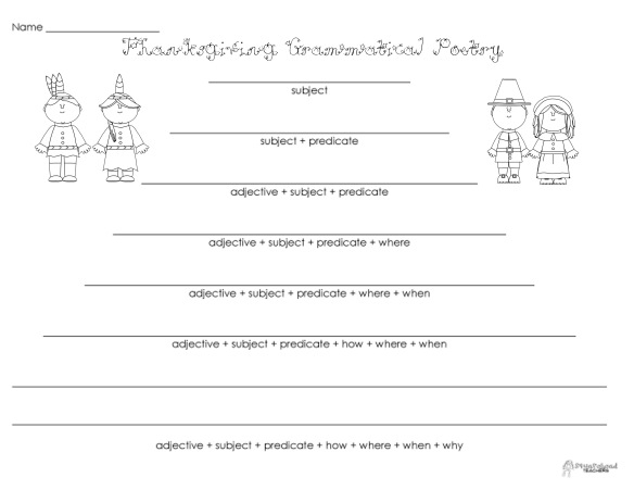 Grammatical Poetry- Thanksgiving