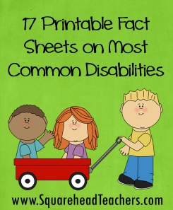 disabilities fact sheets sticker