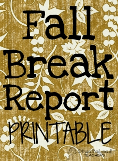 Fall break report sticker