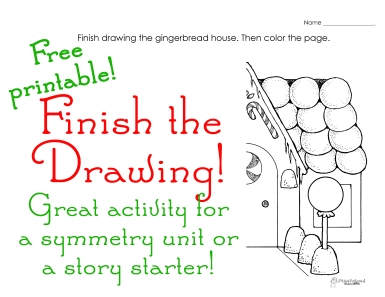 Finish the Drawing- Christmas 1 sticker