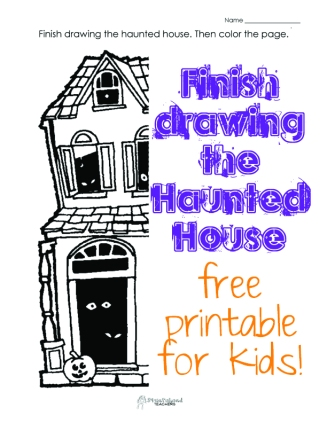Finish the Drawing- Halloween 1 STICKER
