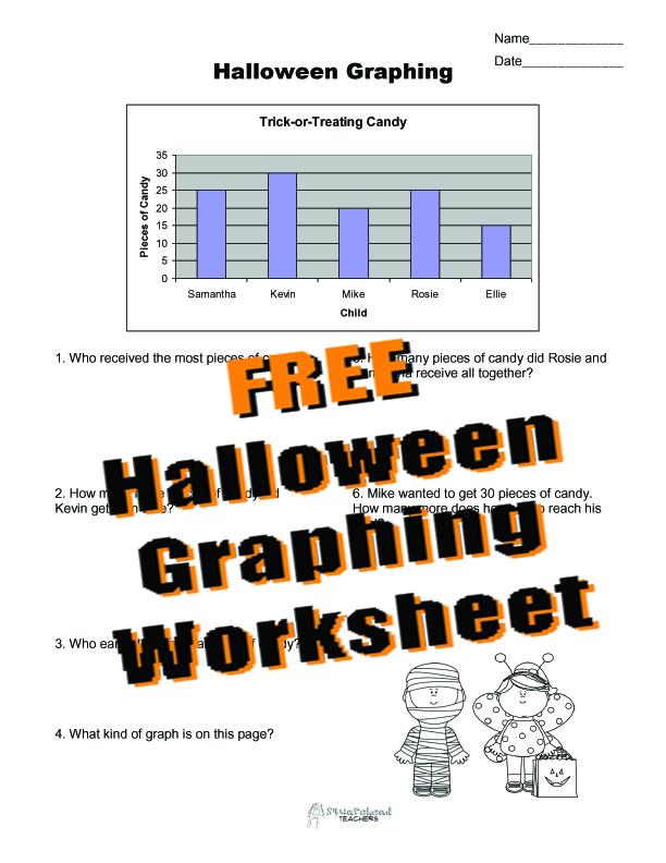 Printable Worksheets printable graphing worksheets : Halloween Graphing Practice | Squarehead Teachers