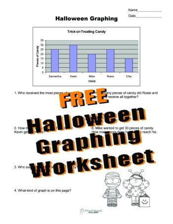 Halloween Graphing sticker