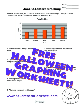 Halloween Jack-o-lantern Graphing sticker
