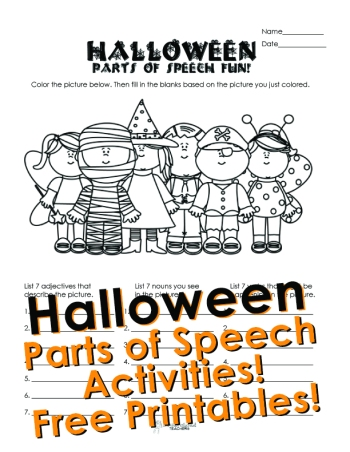 Halloween P.O.S coloring page STICKER