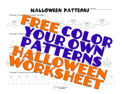 Halloween Patterns- to color sticker