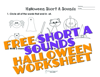 Halloween Short A Sounds sticker