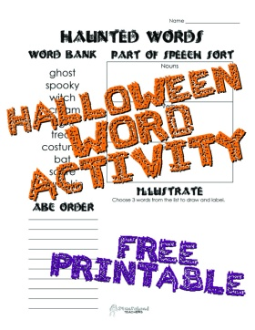 Haunted words sticker