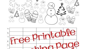 Free ChristmasWinter Graphing Worksheet Kindergarten First