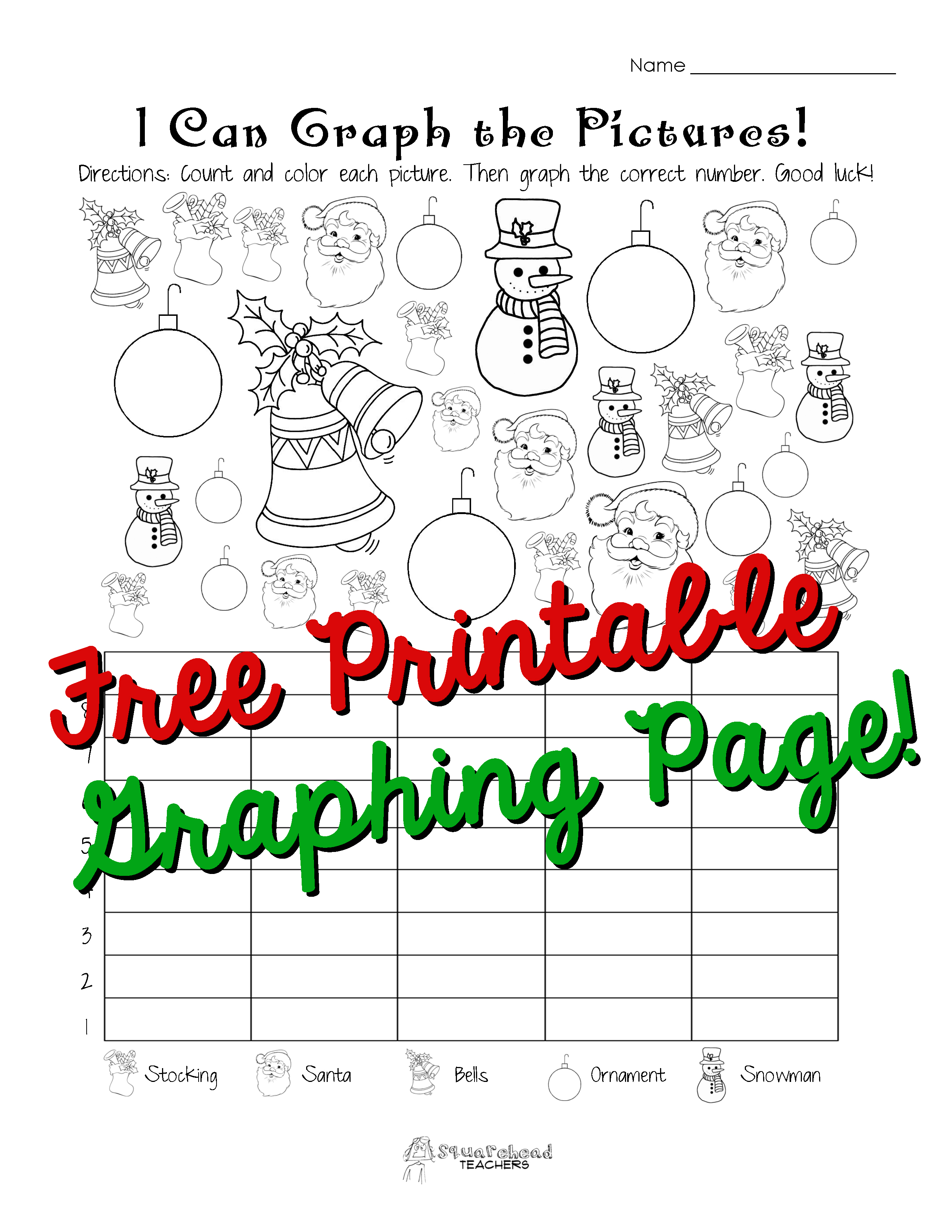 Holiday Graphing Page (Kindergarten, First grade ...