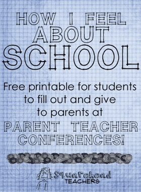 Parent Teacher Conferences -student forms- sticker