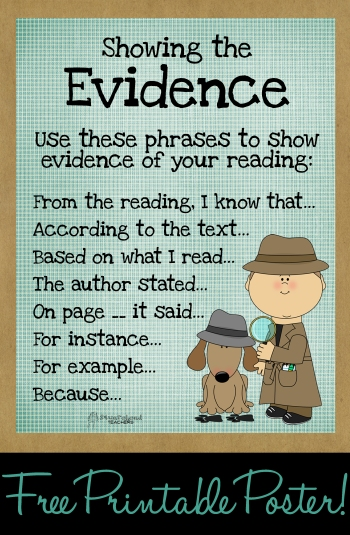 Show the evidence poster sticker