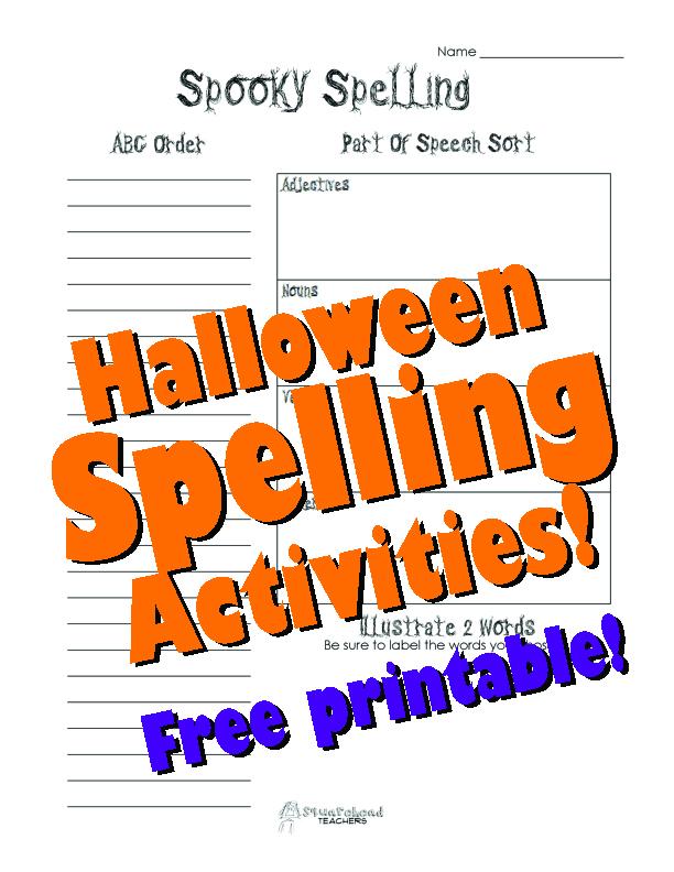 halloween spelling activities squarehead teachers. Black Bedroom Furniture Sets. Home Design Ideas