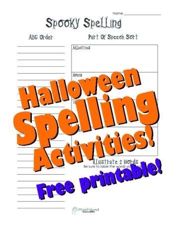 Spooky Spelling sticker