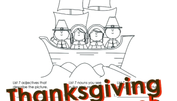 Thanksgiving Parts Of Speech Activities For Kids