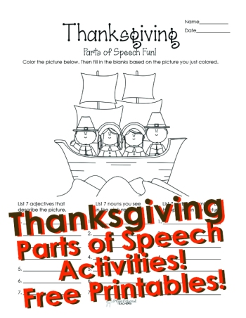 Thanksgiving P.O.S coloring STICKER