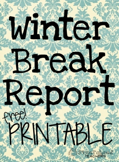 Winter break report