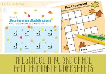 Snapfish worksheets STICKER