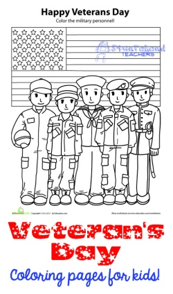 Veterans Day Coloring Page STICKER