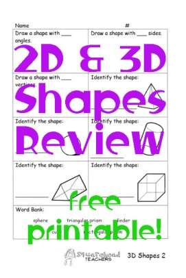 3D shapes STICKER