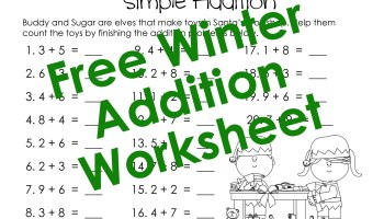Time To The Minute Worksheets Word Valentines Day Math Simple Addition Worksheet  Squarehead Teachers Numeral Worksheets For Kindergarten with Ir Ur Er Worksheets Pdf Adding Single Digits  Winter Worksheet Hundreds Place Value Worksheets Word