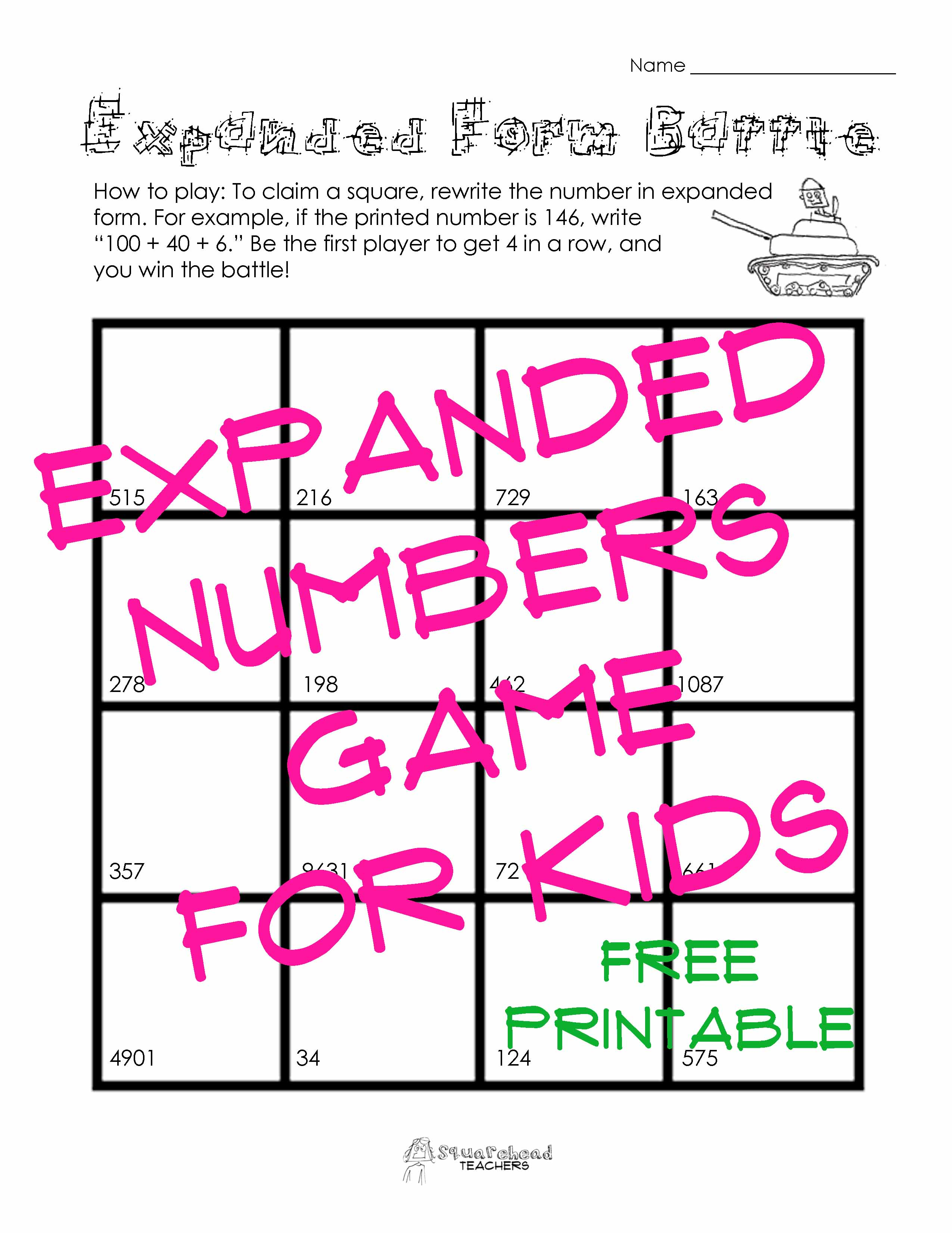 Numbers squarehead teachers page 3 expanded form battle sticker falaconquin