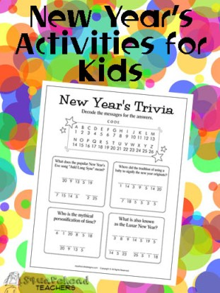 New Year's Kids Activities STICKER