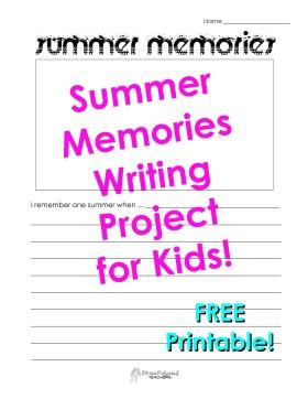 Summer Memories- draw own picture STICKER