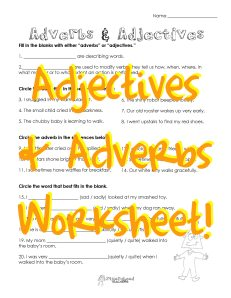 adverbs adjectives 2 STICKER