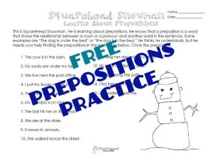 SQH Snowman- prepositions 1 STICKER